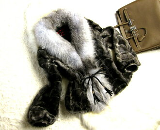 Best Silver Fox & mink far court party / invited / Magazine posted / women's Committee / dinner / formal / outer / down coat / black / wedding / party / fur / fur / leather / women's //P27Mar15