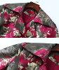 Coat Lady's big size jacquard coat long jacket coat long coat tweed trench coat Cody cancer no-collar coat convertible collar coat floral design coat knit long coat lady's big size
