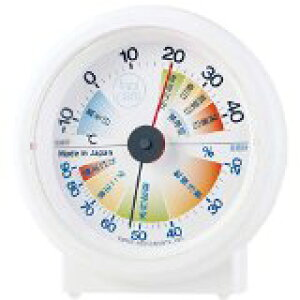送料無料!エンペックス気象計 温度湿度計 生活管理温湿度計 feel care 置き用 日本製 ホワイト TM-2411
