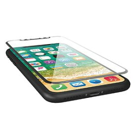 エレコム iPhone X フィルム フルカバー 超衝撃吸収 ブルーライトカット 透明 指紋防止 高光沢 ブラック PM-A17XFLPBLGRB
