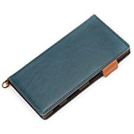 送料無料Xperia XZs/XZ用ケース SO-03J/SOV35/603SO対応 Premium Style 手帳型 フリップカバー PUレザー ブルー PG-XZSFP04BL