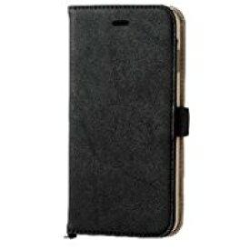 送料無料ELECOM iPhone 6s Plus/6 Plus 対応 ケース 手帳型 ソフトレザーカバー 磁石タイプ ブラック PM-A15LPLFYBK