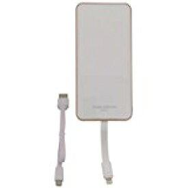 送料無料!エアージェイ モバイルバッテリー iPhone/iPad 専用(MFI認証)薄型 軽量 大容量 6000mA ホワイトMB-L6000 WH