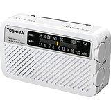 送料無料!東芝 手回し充電ワイドFMラジオ(ホワイト)TOSHIBA TY-JKR5-W(4560158872882)
