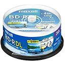送料無料!maxell 録画用BD-R DL 2層 1回録画用 地上デジタル360分 BSデジタル260分 4倍速対応 IJP対応ホワイト(ワイ…
