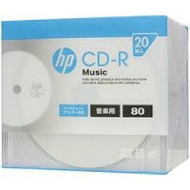送料無料!hp(ヒューレット・パッカード) 音楽用CD-RA ホワイト・ディスク(スリムケース) 20枚