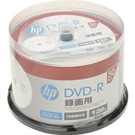 送料無料!hp(ヒューレット・パッカード) 録画用DVD-Rホワイト・ディスク(SPケース) 50枚