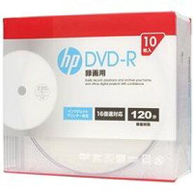 送料無料!hp(ヒューレット・パッカード) 録画用DVD-Rホワイト・ディスク(スリムケース) 10枚