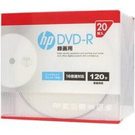 送料無料!hp(ヒューレット・パッカード) 録画用DVD-Rホワイト・ディスク(スリムケース) 20枚