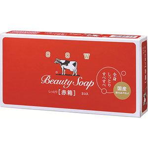 【牛乳石鹸】【カウブランド】赤箱 100g×3個【釜だき製法】【ミルクバター配合】【保潤成分】