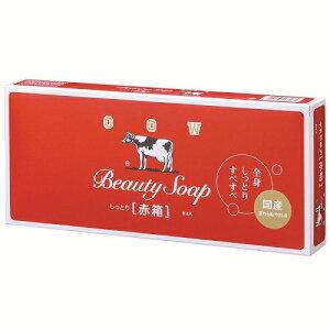 【牛乳石鹸】【カウブランド】赤箱 100g×6個【釜だき製法】【ミルクバター配合】【保潤成分】