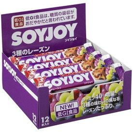 【大塚食品】ソイジョイ 3種のレーズン 1箱(12本入)【大豆】【低GI食品】【SOYJOY】