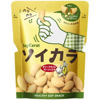 【大塚製薬】【SoyCarat】ソイカラ オリーブオイルガーリック味 1袋(27g)【大豆イソフラボン】【スナック菓子】