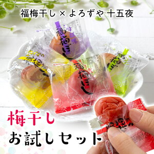 \福梅 4種おためしセット(各3粒)/ 福井 梅干し 4種おためしセット肉厚 食べ比べ ごはんのお供 人気特別価格 送料無料