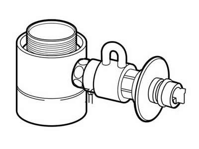 【送料無料】[CB-STKA6]パナソニック 分岐水栓 食器洗い乾燥機用 タカギ社用 【送料無料】