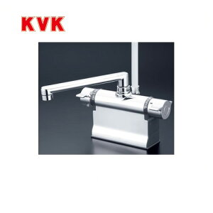 [KF3011T]KVK 浴室水栓 シャワー水栓 サーモスタットシャワー金具 デッキ形(台付き) 190mmパイプ仕様 逆止弁 可変ピッチ式 取付穴径(mm):φ22〜φ24 蛇口 【送料無料】 デッキタイプ おしゃれ