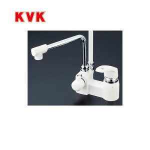 [KF6004]KVK 浴室水栓 シャワー水栓 シングルレバー式シャワー デッキ形(台付き) 逆止弁 快適節水シャワー 取付穴径(mm):φ22〜φ24 蛇口 【送料無料】 デッキタイプ おしゃれ