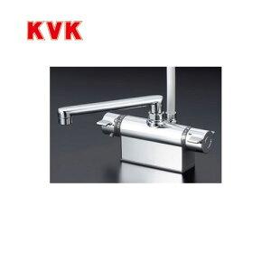[KF801T]KVK 浴室水栓 シャワー水栓 サーモスタットシャワー金具 デッキ形(台付き) 取付ピッチ100mm 逆止弁 快適節水シャワー 取付穴径(mm):φ22〜φ24 蛇口 【送料無料】 デッキタイプ おし