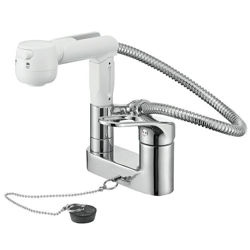 SANEI シングルスプレー混合栓(洗髪用) 一般地用 【品番:K37100VR-13】