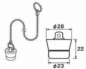 【メール便対応可】 パナソニック panasonic RLXGVDT408 ゴム栓 Φ28×Φ23 高さ22(おもり付) チェーン長さ800