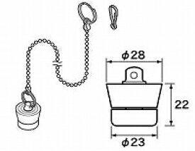 【メール便対応可】 パナソニック panasonic RLXGVDT409 ゴム栓 Φ28×Φ23 高さ22(おもり付) チェーン長さ620