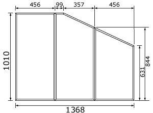 パナソニック panasonic 風呂フタ(長辺1368ミリ×短辺1010ミリ:組みフタ:台形:3枚:切り欠きなし RL91041SC