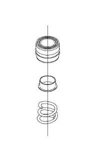 【メール便対応可】 TOTO THK51(旧品番5J000028) 水栓金具取替パーツ THY582Nにも使われています