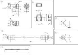 パナソニック AD-DL531-25 温水洗浄便座用延長ホース2.5Mと分岐金具のセット ビューティートワレ用