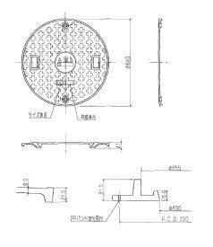 アムズ株式会社 ams 600φフタ 安全荷重500キロ T2 黒 コインロック仕様 【turu】 マンホール