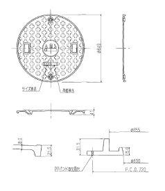 アムズ株式会社 ams 600φフタ 安全荷重1500キロ T6 黒 コインロック仕様 【turu】 マンホール