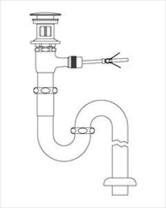 LIXIL(INAX) LF-71SALC 床排水Sトラップ(排水口カバー付)(引き棒無し) ポップアップ式排水金具(呼び径32mm)