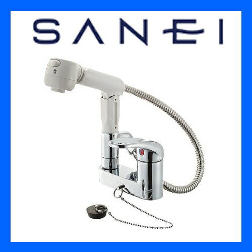 三栄水栓 洗髪用 シングルスプレー混合栓 K37100VR-13【ss0627】