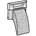 シャープ シャープ 洗濯機用 糸くずフィルター(210 337 0244) 【メール便対応可】