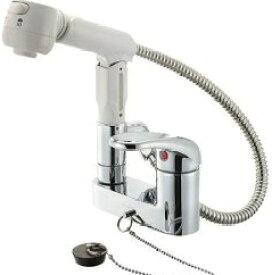 【送料無料】三栄水栓 SANEI 洗髪用 シングルスプレー混合栓 K37100VR-13【ss0627】