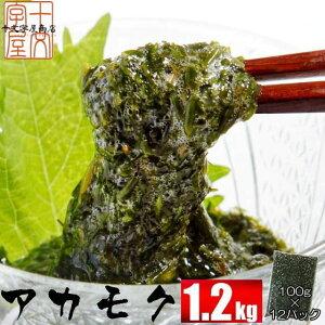 宮城県産アカモク ギバサ 100g×12パック 冷凍 お味噌汁 あかもく ぎばさ 送料無料