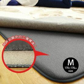 ラグ専用下敷き 防音 約170×170cm Mサイズ 床暖房対応 滑り止めギフト 送料無料