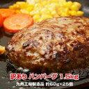 【訳あり】九州工場製造品 合挽き ふっくら ハンバーグ1.5kg
