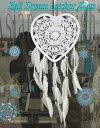 ドリームキャッチャー ハート型 22cm ホワイト 車 アジアン雑貨 バリ雑貨 ビーチスタイル カーアクセサリー サーファ…