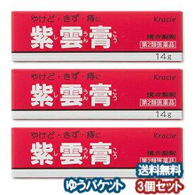 【第2類医薬品】 クラシエ 紫雲膏(シウンコウ) 14g×3個セット メール便送料無料_