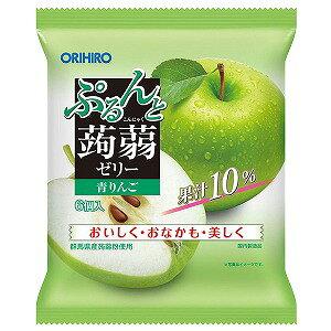 オリヒロ ぷるんと蒟蒻ゼリー パウチ 青りんご 20g×6個