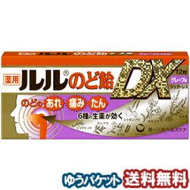 ルルのど飴DX グレープ味 12粒(6粒×2本入) 指定医薬部外品 メール便送料無料