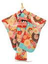 七五三 着物 7歳 フルセット レンタル 女の子 ブランド 7190 JAPAN STYLE 絵羽薬玉に菊水色×赤 753 子ども お祝い着 …