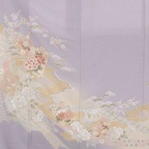 〔貸衣装〕レンタル色留袖550白藤色〔貸衣裳〕〔結婚式〕〔フルセット〕【往復送料無料】【smtb-k】【ky】