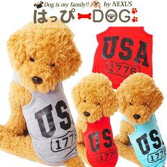 【メール便送料無料】犬の服ドッグウェア犬服タンクトップUSAロゴ家着可愛いおしゃれ通販犬服洋服かわいい犬服お洒落ペット服ワンちゃん服