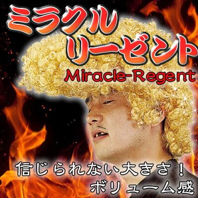 ミラクルリーゼントゴールド【カツラ/コスプレ/ヤンキーツッパリ】【5P16Mar09】