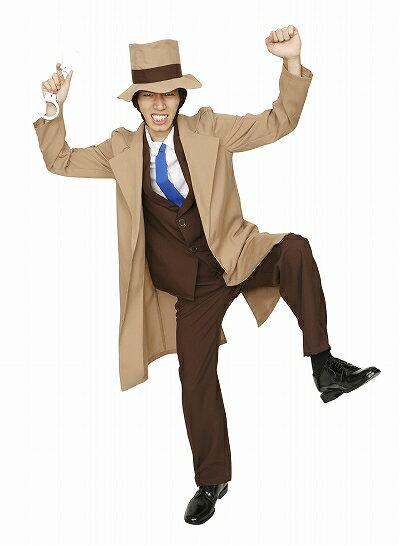 【ルパン三世コスプレ】大泥棒シリーズライバル警部[銭形警部コスプレ衣装銭形コスチュームルパン仮装大人男性なりきり衣装]【A-1330_862956】