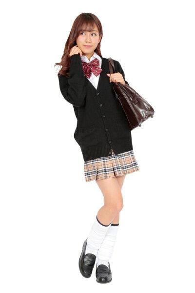 【制服カーディガン】ティーンズエバーカーディガン(ブラック)M[制服カーディガンブラック学生女子高生コスプレ学生服私服Teensever私服高校私服校]【A-1660_845737】