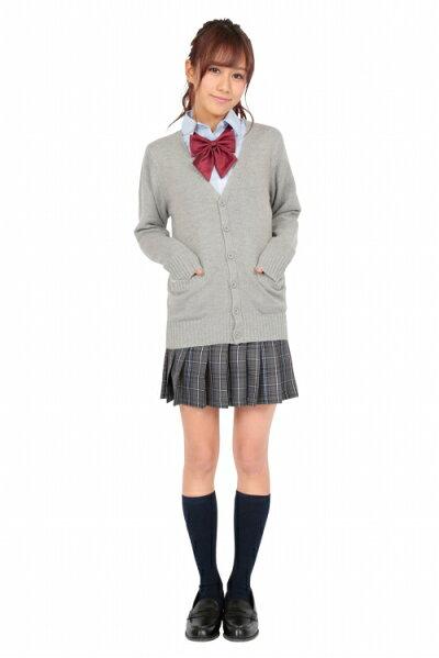 【制服カーディガン】TeensEverカーディガン(杢グレー)L[女子高生カーディガンベストコスプレ制服]【A-1440_864257】