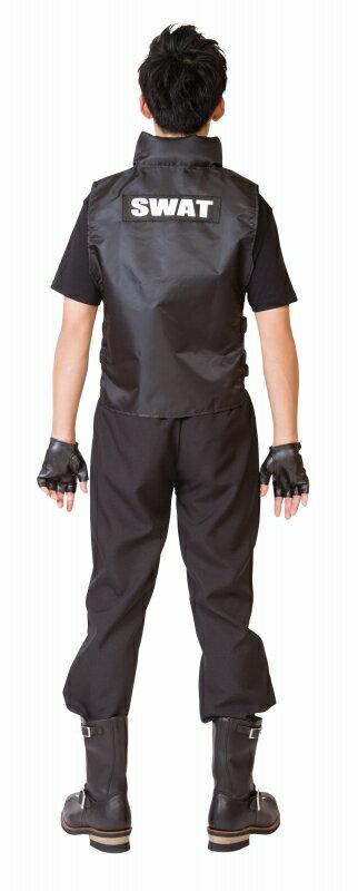 【ハロウィンコスプレSWATメンズ】MENコススワット[SWAT衣装メンズ警察ポリススワットコスチューム男性ハロウィンメンズ衣装]【A-1906_881063】