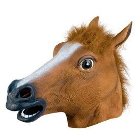 【馬 マスク】アニマルマスク3 サラブレッドマスク [馬 マスク サラブレッド かぶりもの ウマ コスプレ 競馬 騎手 暴れ馬 競走馬 動物園 牧場 ファーム 馬 仮装 パーティーグッズ 祭り 縁日 催事 イベント なりきり]【C-0018_'515044】